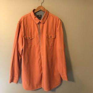 Lee Men's long sleeve shirt XXL Color Orange Blue